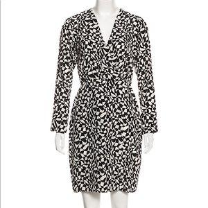 RAOUL Silk Mini Geometric Abstract Print Dress